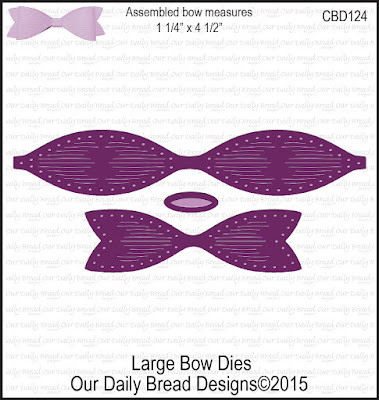 Our Daily Bread Designs Custom Dies: Large Bow
