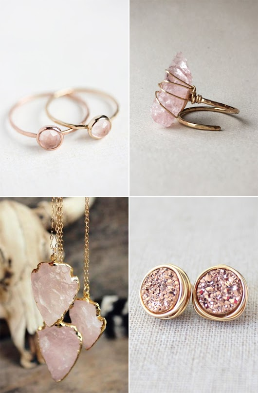 *Lovely Clusters - The Pretty Blog : Pretty Pink and Gold Jewelry