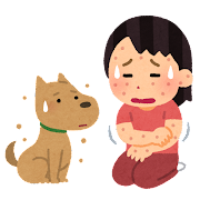 犬アレルギーのイラスト