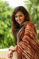 Lasya looks super cute in black choli Saree at Raja Meru Keka Press Meet ~  Exclusive 039.JPG
