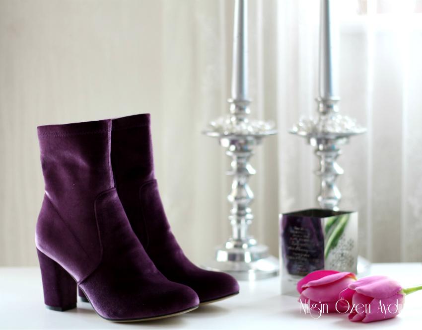mor kadife botlar-çiçekli broş-moda blogu-moda blogları-fashion blogger-fashion blogs-velvet boots