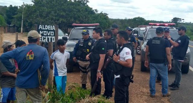 Operação em aldeias captura índios foragidos e suspeitos de assalto