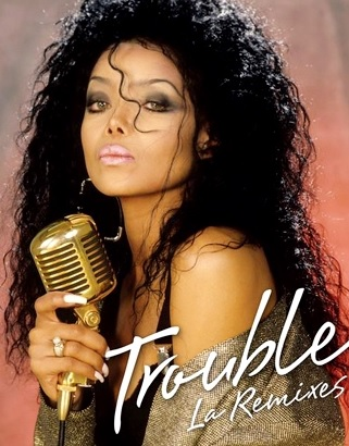 Foto de La Toya Jackson en portada de disco
