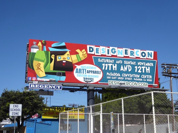 DesignerCon 2017 billboard