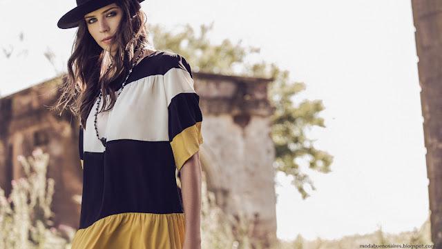 Color block tendencia de moda otoño invierno 2016 Basilotta colección.