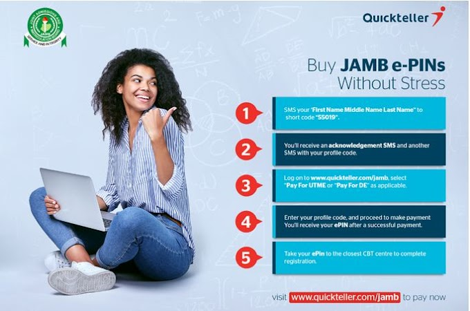 JAMB ePins on Quickteller, See Steps and Registration Process