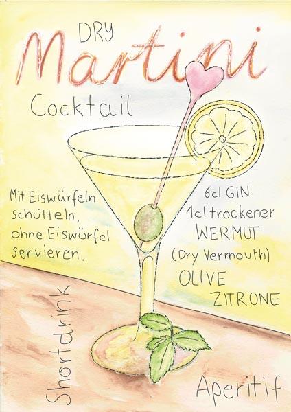 Martini, Illustration, Zeichnung