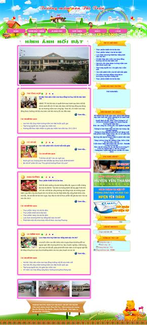 Thiết Kế Website Giáo Dục Mầm Non Nghệ An