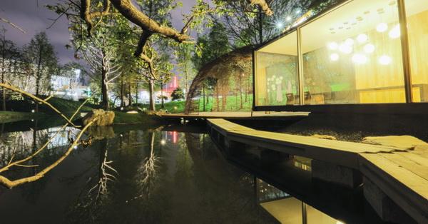 台中南屯惠宇建設自然共生基地,拍照秘境,小橋流水玻璃屋