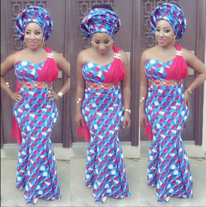 simple crop top ankara gown