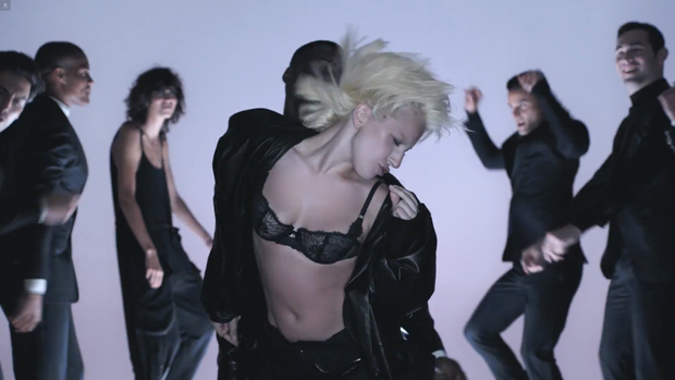 Lady Gaga lingerie appears and sings classic video for Tom Ford