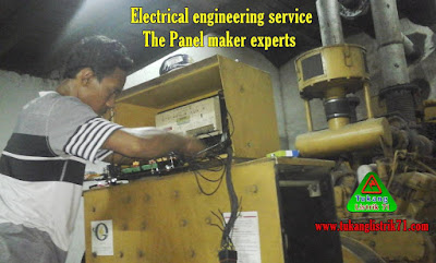 melayani service panel control genset