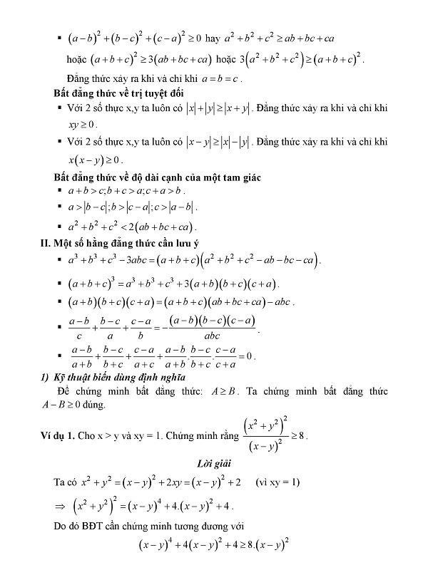 Khám phá tư duy kỹ thuật giải bất đẳng thức bài toán Min - Max