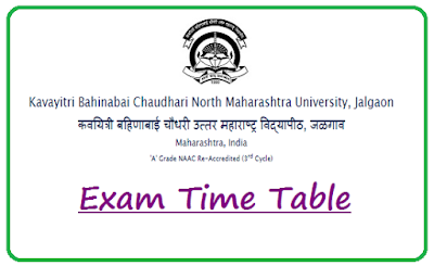 NMU Time Table Oct 2018