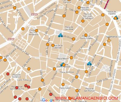 plano mapa de carriles bici salamanca carril bici