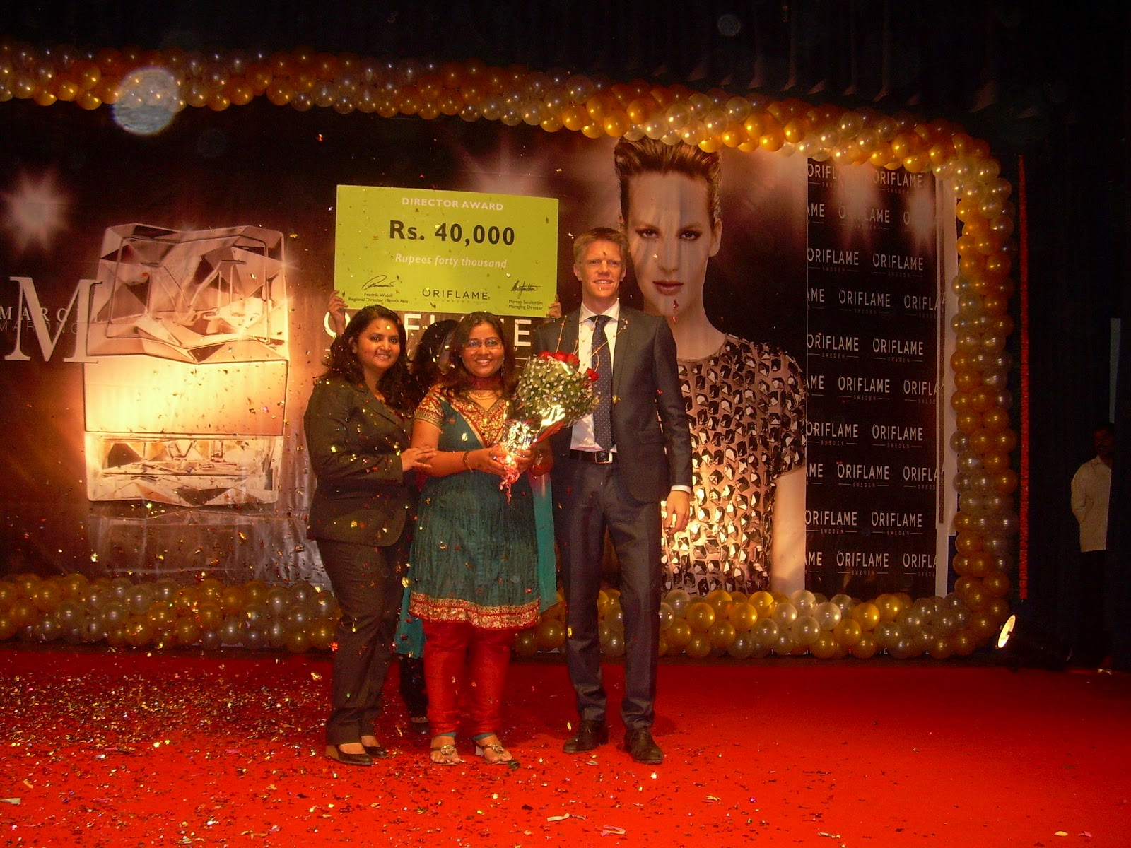 Recognition of Oriflame Director Mrs Jashmi
