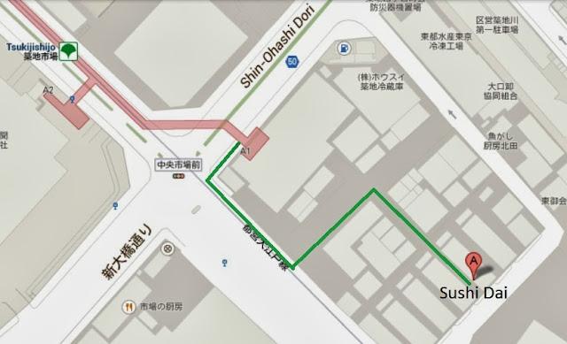 Sushi Dai Map Tsukiji Fish Market Tokyo Consult TokyoConsult