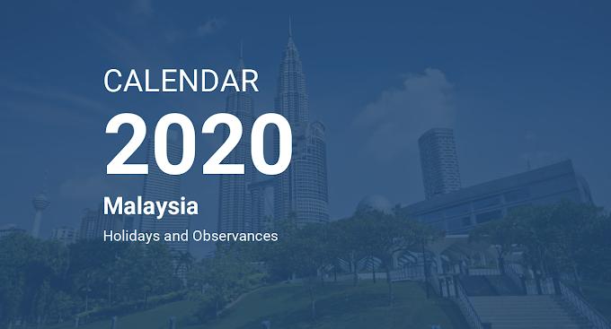 Kalendar lengkap tahun 2020