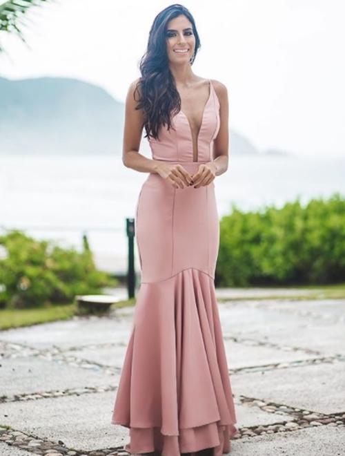 vestido rosa e rose para madrinha