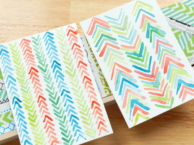 abstract arrow chevron watercolors: grow creative