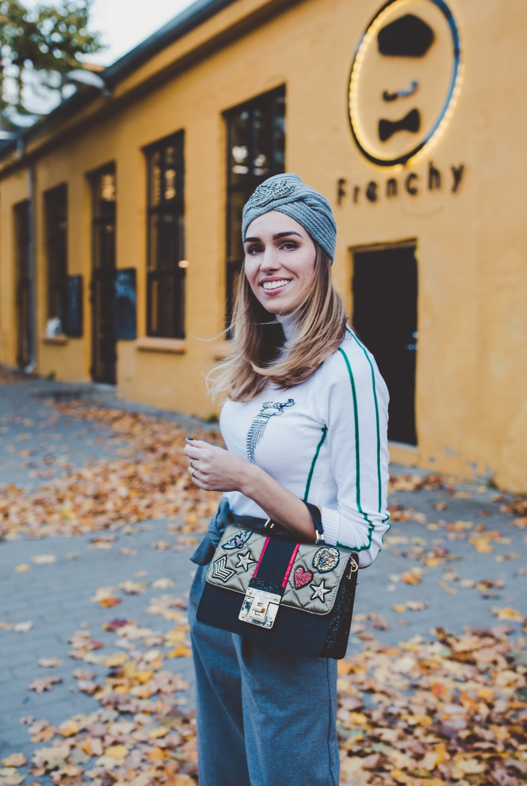 turban hat outfit fall