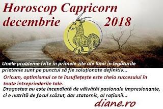 Horoscop Capricorn decembrie 2018