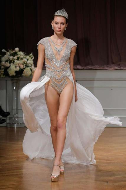 The scandalous wedding dress that everyone's talking about at Bridal Fashion Week