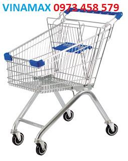 xe đẩy hàng inox cho siêu thị