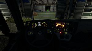 Green & Yellow Lights Dashboard for Mercedes MP4