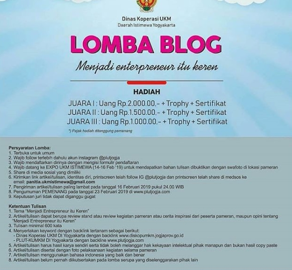 Lomba blog jadi entrepreneur