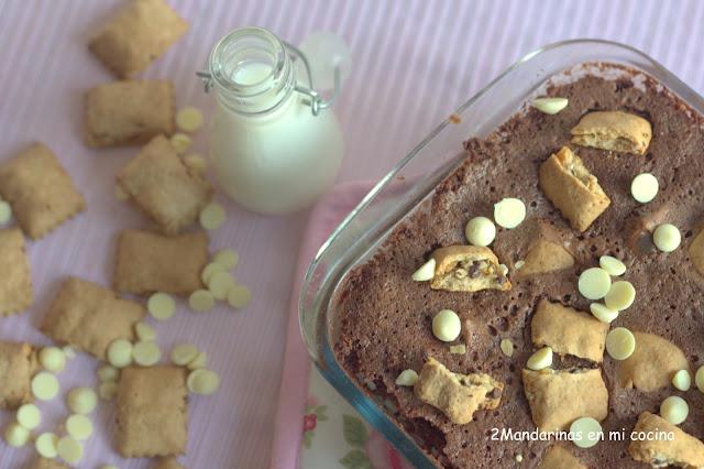 Brownie con graneras de cuétara