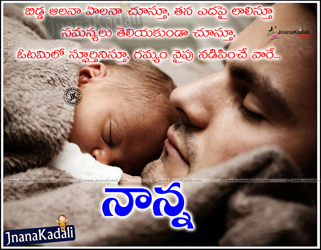 Best Inspirational Mother&father Quotations and Messages in Telugu Ammananna kavithalu