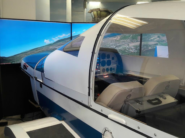 Aéroclub simulation simulateur de vol aviation pilotage