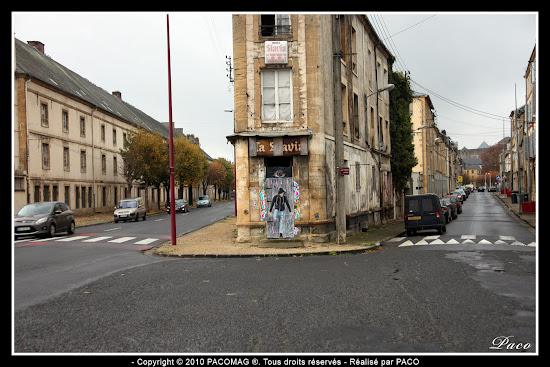 Faubourg du Menil Street Art à l'entrée de Sedan