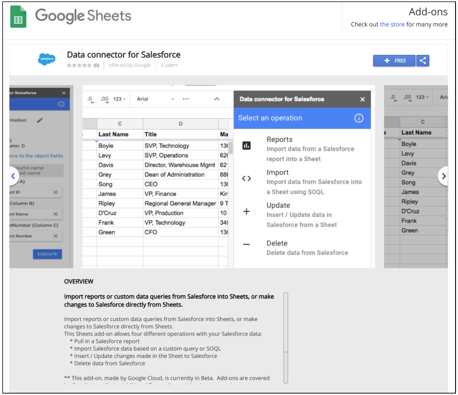 G Suite Updates Blog: Easily connect with Salesforce from Google Sheets