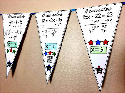 free solving equations math pennant activity