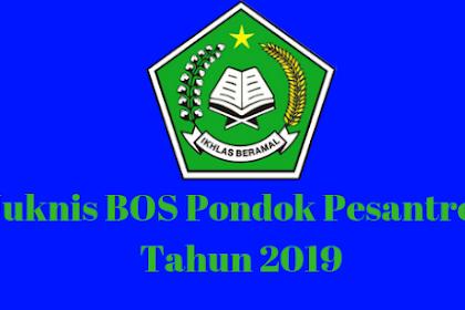 Juknis BOS Pondok Pesantren Tahun 2019