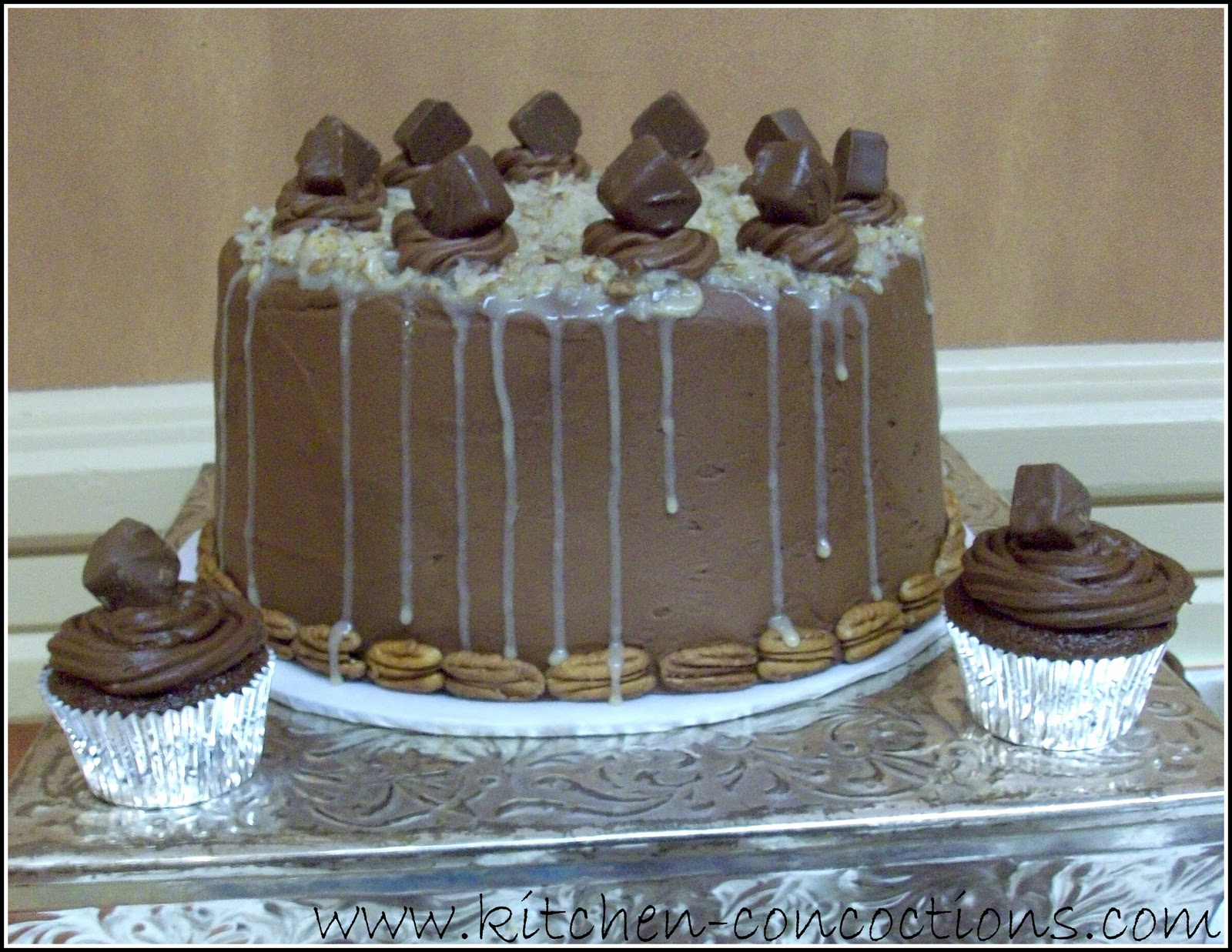 german chocolate wedding cake pictures let s talk wedding cakes kitchen concoctions 14671