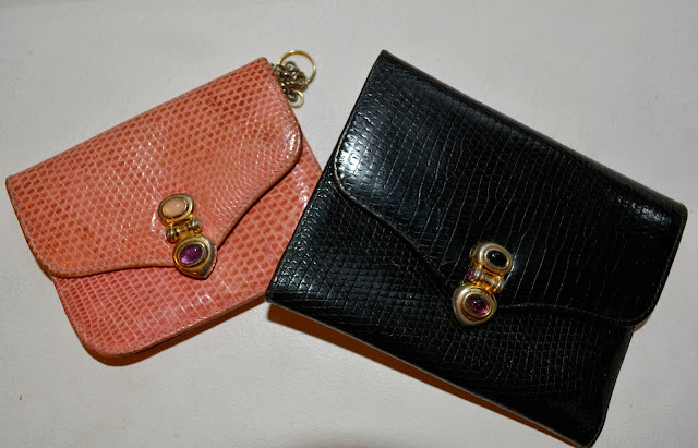 thrifted judith leiber wallets from an estate sale