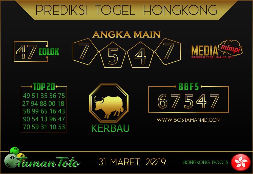 Prediksi Togel HONGKONG TAMAN TOTO 31 MARET 2019