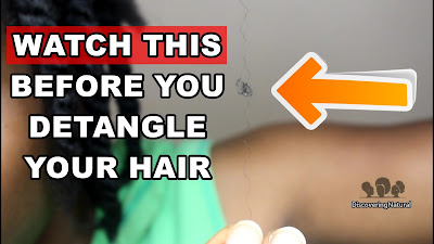 How to Detangle Single Strand Knots in Natural Hair | Discovering Natural