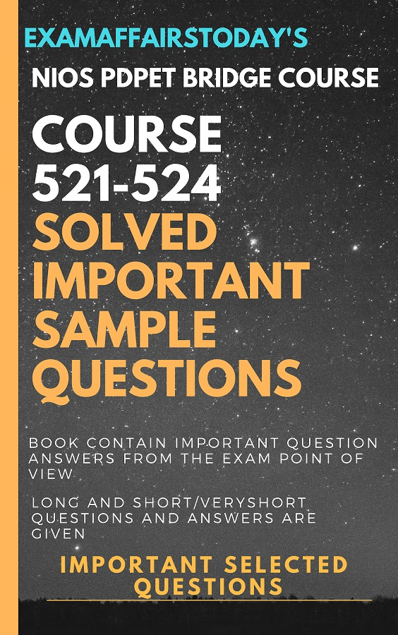 NIOS PDPET Bridge Course 521-524 Sample Papers and Important