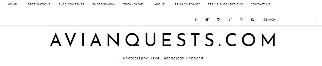 AvianQuest.Com New Minimalist Template