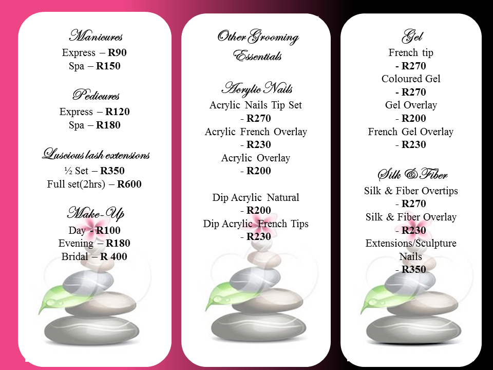 Belleza perfecta slimming spa belleza updated price list for Massage price list template