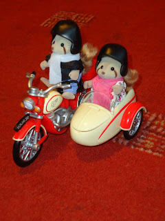 Sylvanian Families Motorcycle and Sidecar Set