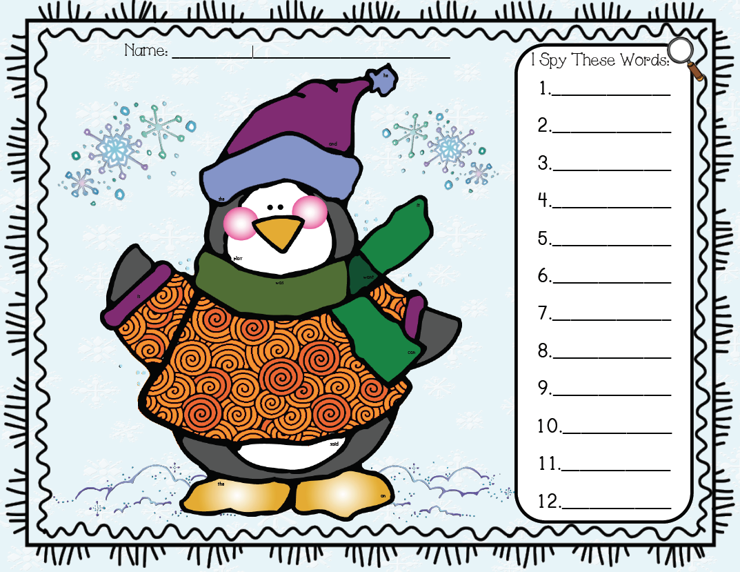 Mrs Solis S Teaching Treasures Snowman And Penguin Fun Freebie