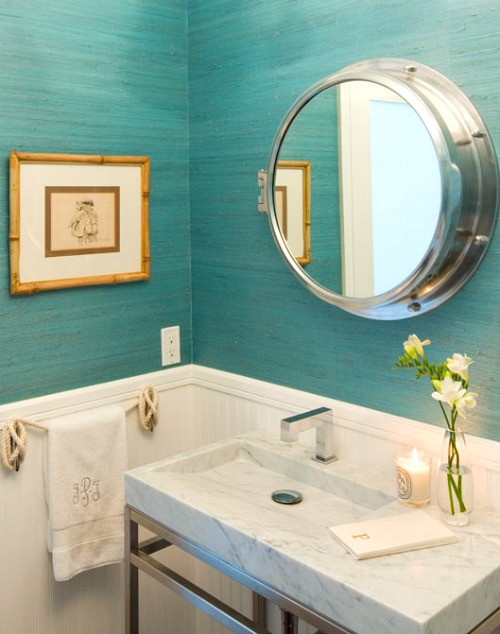 Decorative Bathroom Mirrors Coastal Amp Nautical Style