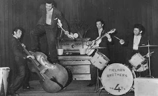 The Tielman Brothers adalah sebuah grup musik asal Indonesia. Musik mereka beraliran rock and roll, namun orang-orang di Belanda biasa menyebut musik mereka Indorock, sebuah perpaduan antara musik Indonesia dan Barat, dan memiliki akar di Keroncong.  The Tielman Brothers adalah yang band Belanda-Indonesia pertama yang berhasil masuk internasional pada 1950-an. Mereka adalah salah satu perintis rock and roll di Belanda. Band ini cukup terkenal di Eropa, jauh sebelum The Beatles dan The Rolling Stones.  The Tielman Brothers pernah tampil di Istana Negara Jakarta dihadapan Presiden Soekarno. Mereka adalah anak dari Herman Tielman asal Kupang dan Flora Lorine Hess asal Semarang. Karier rekaman mereka dimulai ketika keluarga Tielman pada tahun 1957 hijrah dan menetap di Breda, Belanda. Nama The Tielman Brothers lebih dikenal di Eropa, terutama Belanda. Di Indonesia sendiri, nama The Tielman Brothers masih menjadi nama yang asing, sebuah kenyataan yang sangat disayangkan.  The Tielman Brothers dipercaya lebih dulu memperkenalkan musik beraliran rock sebelum The Beatles. Aksi panggung mereka dikenal selalu atraktif dan menghibur. Mereka tampil sambil melompat-lompat, berguling-guling, serta menampilkan permainan gitar, bass, dan drum yang menawan. Andy Tielman, sang frontman, bahkan dipercaya telah mempopulerkan atraksi bermain gitar dengan gigi, di belakang kepala atau di belakang badan jauh sebelum Jimi Hendrix, Jimmy Page atau Ritchie Blackmore. THE TIMOR RHYTM BROTHERS (Indonesia 1945-1957)  Anggota Keluarga:  (Ayah) Herman Tielman.  (Ibu) Flora Lorine Hess.  Reggy – lahir 20 Mei 1933 di Surabaya, Indonesia.  Ponthon – lahir 4 Agustus 1934, meninggal di 29 April 2000 di Jember, Indonesia.  Andy – lahir 30 Mei 1936 di Makassar, Sulawesi Makassar, Indonesia. Loulou (Herman Lawrence) – lahir tanggal 30 Oktober 1938 di Surabaya, Indonesia, meninggal pada 4 Agustus 1994 di Cairus, Australia. Jane (Janette Loraine) – lahir 17 Agustus 1940, meninggal pada 25 Juni 1993.  Kisah