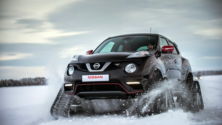 off-road & camping: nissan juke nismo rsnow is dashing through the snow
