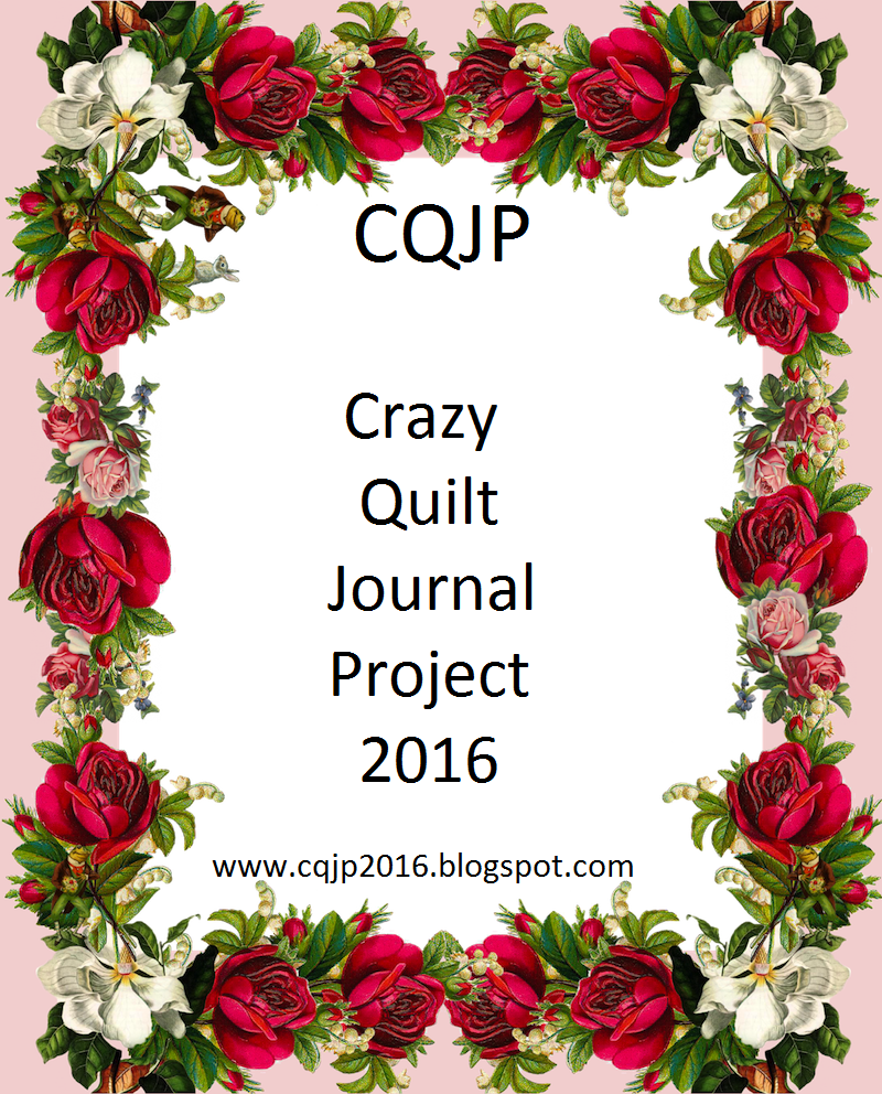 Crazy Quilt Journal Project 2016